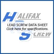 Screw Data Sheet